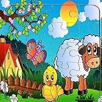木製のカラフルなペグパズル教育パズルのおもちゃ ブランドの新しい木製認知パズルアーリーラーニング動物玩具子供のための素晴らしいギフト(羊)
