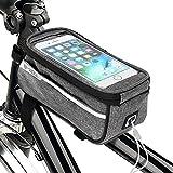 自転車 フレームバッグ トップチューブバッグ 自転車携帯ホルダー 6.0インチスマホ対応 大容量 防水