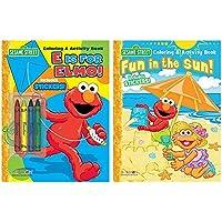 Sesame Street Elmoカラーリング&アクティビティBooks , Includesステッカーandクレヨン4本