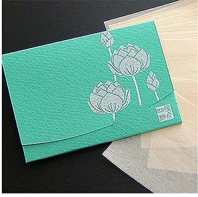 マトリックス道路アカデミー季節の花 蓮(緑) 「絹すき」 短冊サイズ
