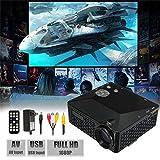 ELEGIANT HD 1080P HDMI 小型 LED プロジェクター 解像度640x320 VGA HDMI USB SD対応500ルーメンリモコン付き
