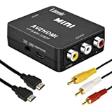 RCA to HDMI変換コンバーター Ltenic AV to HDMI 変換器 AV2HDMI 1080/720P切り替え 音声転送-PS2/スーパーファミコン/VHS VCRカメラ DVDに対応 USB/HDMI/RCAケーブル付き(ブラック)