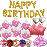 Jyoker 風船 誕生日飾り付けバルーン バースデーサプライズ HAPPY BIRTHDAYパーティー飾り物セット (レッド)