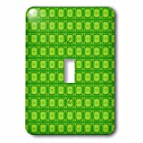 3drose LSP _ 168571_ 1ネオングリーン長方形ドットパターンライトスイッチカバー