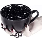 Rogue + Wolf Midnight Coffee Large Mug in Gift Box Cute Mugs for Women Unique Christmas Witch Gifts Novelty Tea Cup Goth Deco