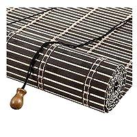 PENGFEI 竹すだれ バンブーカーテン ティールーム レストラン 仕切りカーテン 日焼け止め 通気性がある、 2色、 サイズカスタマイズ (色 : A, サイズ さいず : 50X180CM)