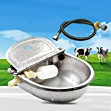 Automatic Fill Water Trough Bowl Drinking Stainless Pet Water Dispenser for Farm Horse Cow Dog Pigs Goat Cattle Sheep Livesto