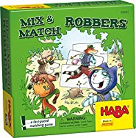 HABA Mix & Match Robbers - A Fast Paced Matching Game (Made in Germany)