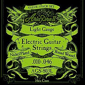 AriaProII アリアプロツー エレキギター弦 3セットパック 10-46 Light ライト AGS-803L