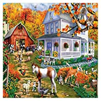 Baosity 5D ダイヤモンド 絵画 DIY 手作り 刺繍 風景 動物 壁飾り 壁絵 ポスター アート 工芸品 手芸  贈り物 多種類選べる  - #7, 40×30cm
