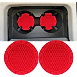 Lipctine 2PCS 2.75 Inch Car Interior Cup Holder Pad Set Round Auto Cup Holder Insert Drink Coaster fit for Vehicle SUV Truck