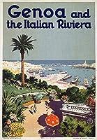 ジェノヴァとリヴィエラヴィンテージポスターイタリアC。1931 9 x 12 Art Print LANT-59226-9x12