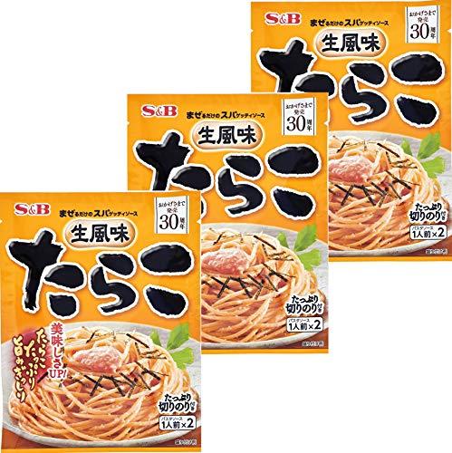 S&B 生風味スパゲッティソース たらこ 53.4g×3個