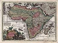 Lais Puzzle マシューSeutter地図 - アトラスNovas Indicibus Instructus(1744) - アフリカ - モチーフシリーズ 100 部