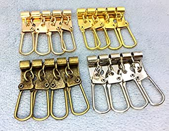 ● キーケース 金具 A 4連 幅34mm 5個入り 厚タイプ 鉄製 四連 ニッケルシルバー