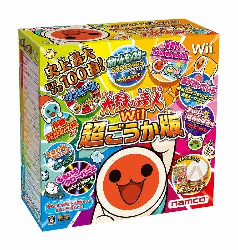 太鼓の達人Wii 超ごうか版 (専用太鼓コントローラ「太鼓とバチ」同梱版)の詳細を見る