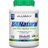 ALLMAX Nutrition Isonatural Whey Protein Isolate, Vanilla, 5 lbs