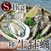 生ガキ 三陸宮城県産 生牡蠣[S]1kg (7-10個入)生食用 殻付き牡蠣 漁師直送 朝どり生カキ
