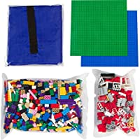 Building Bricks – 1000 pc Bulkブロック+ 324 Piece Windows、ドア、屋根のタイルセット – 合計1324 Piece Bulkブロック| 2 Baseplates | Drawsting Play Mat – Tight Fit with主要ブランド