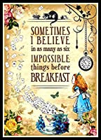 不思議の国のアリス冷蔵庫マグネットQuote 6x 8磁気ポスター 2.5x3.5 alicebreakfast1