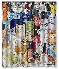 インテリア 可愛い猫ちゃん シャワーカーテン 防カビ おしゃれ バスカーテン 120x180cm