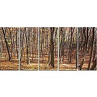 """デザインアートThick Carpathian落葉樹 60x28"""" - 5 Equal Panels PT14000-60-28-5PE"""