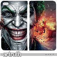 art of DC Justice 手帳型 Galaxy S7 edge SC-02H(G009102_02) 専用 アメコミ 映画 ジョーカー pop art センス 個性的 スマホケース
