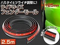 【シードスタイル】フェンダーモール ワイドサイズ  2.5m  ブラック