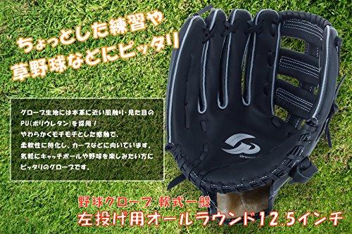 GP (ジーピー) 野球 グローブ 軟式 一般 左投げ用 オールラウンド 12.5インチ 36415
