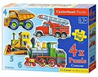 "Castorland "" Vehicles ""パズル( 4 Piece )"