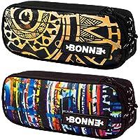 Bonne Pencil Case - Bargain Set of 2 Unisex Pencil Cases for Boys & Girls - Popular Designs - Maori & Clippings