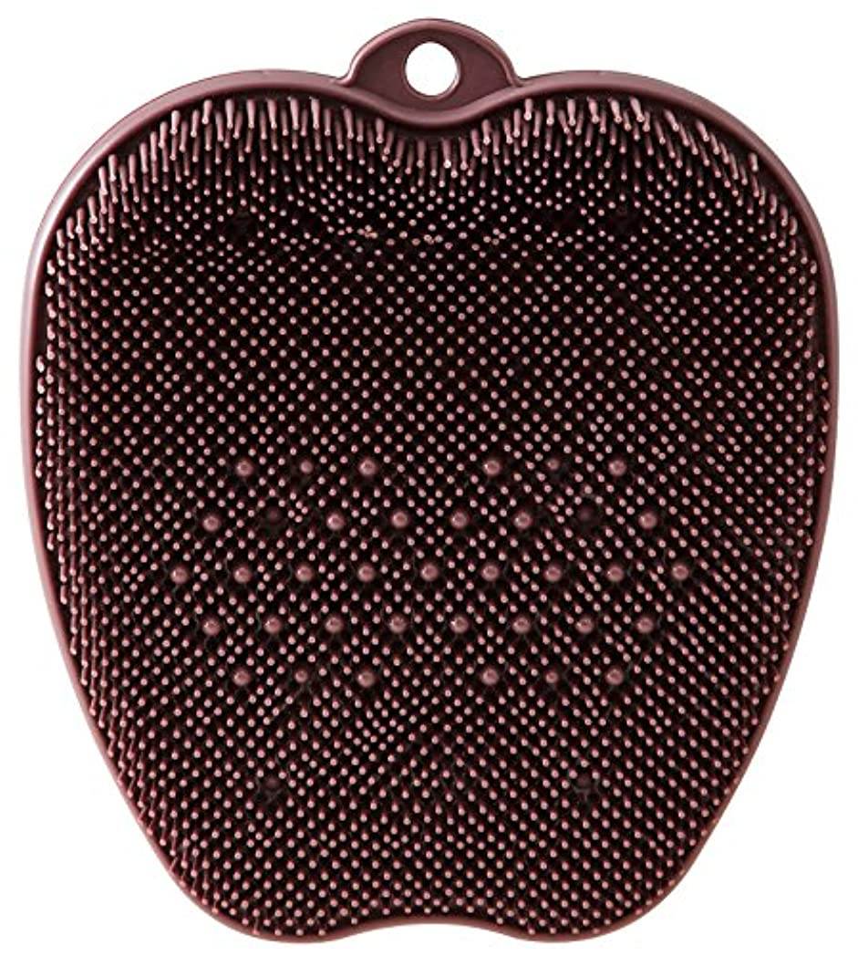 シンプルさウミウシおしゃれなtone フットブラシ ブラウン TR-15