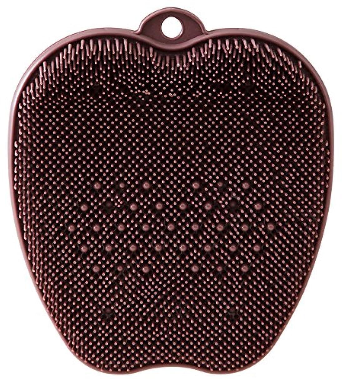 収束する縞模様の書くtone フットブラシ ブラウン TR-15