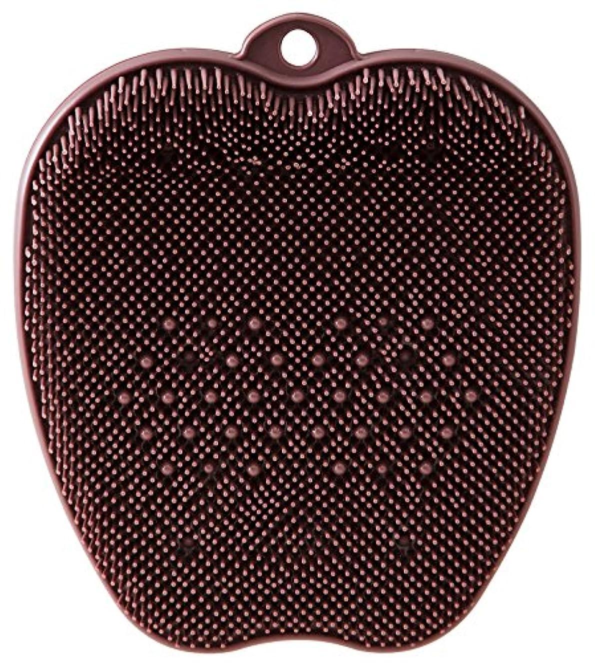 抽象化シャンプー加害者tone フットブラシ ブラウン TR-15