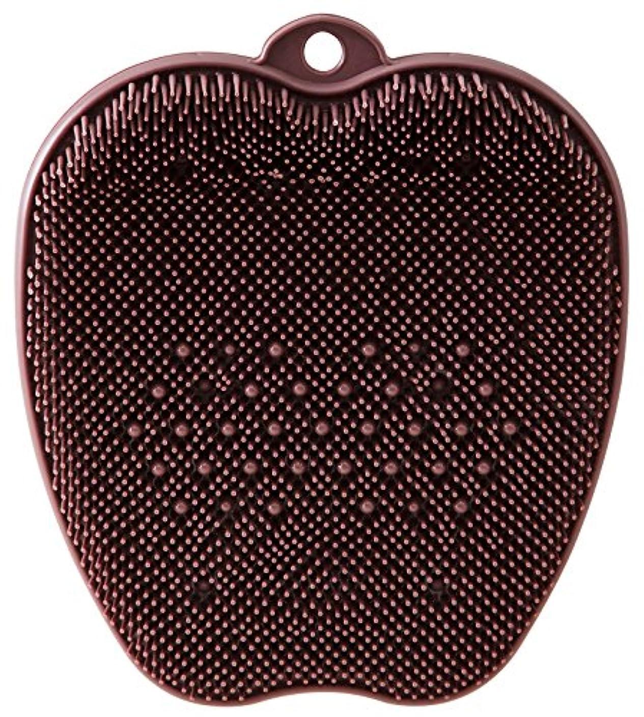 粘着性防ぐ下向きtone フットブラシ ブラウン TR-15
