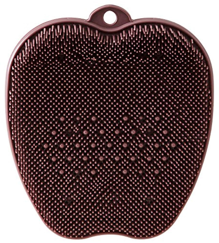 円形ペック完璧tone フットブラシ ブラウン TR-15