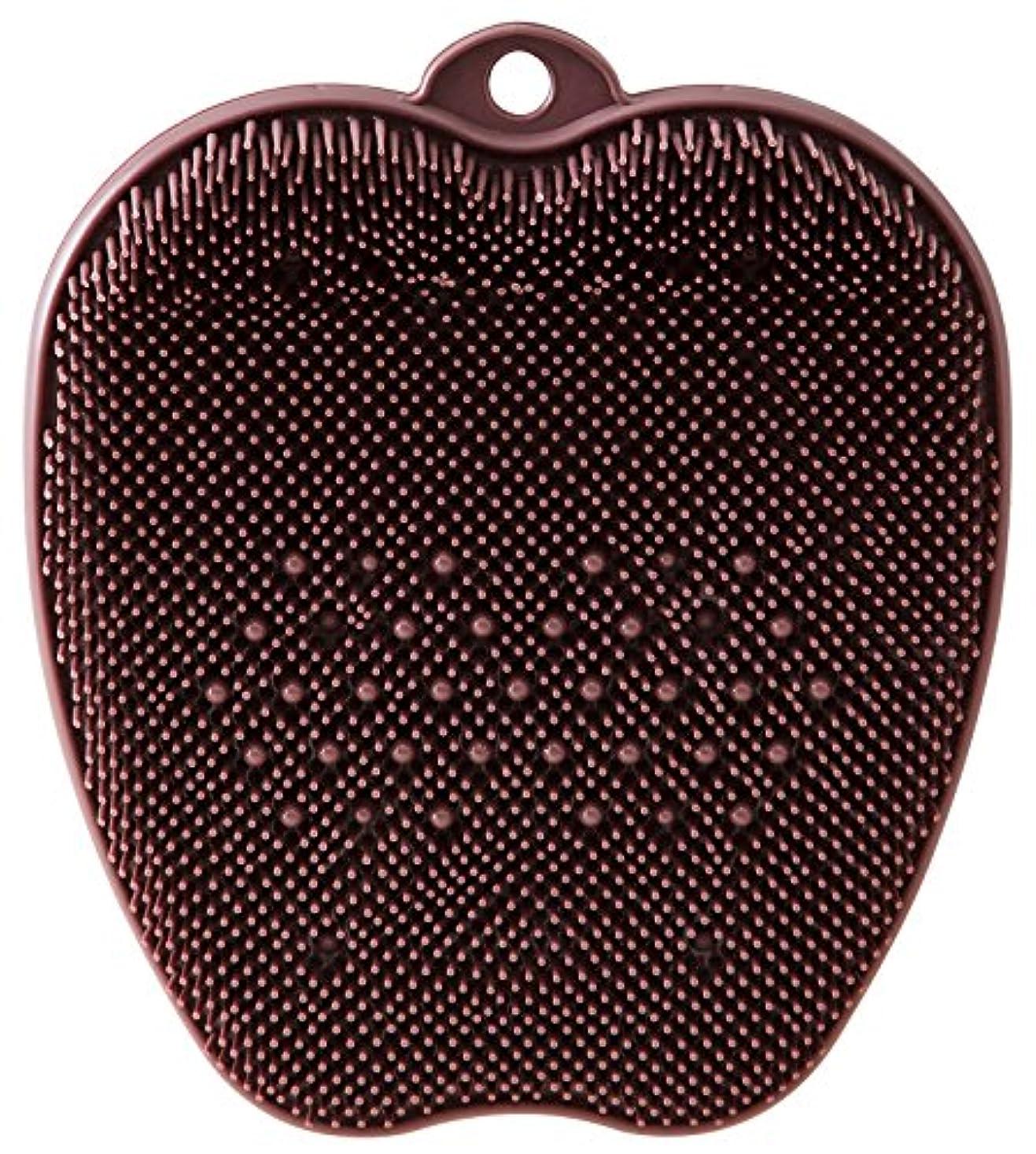 瞑想的趣味敬なtone フットブラシ ブラウン TR-15
