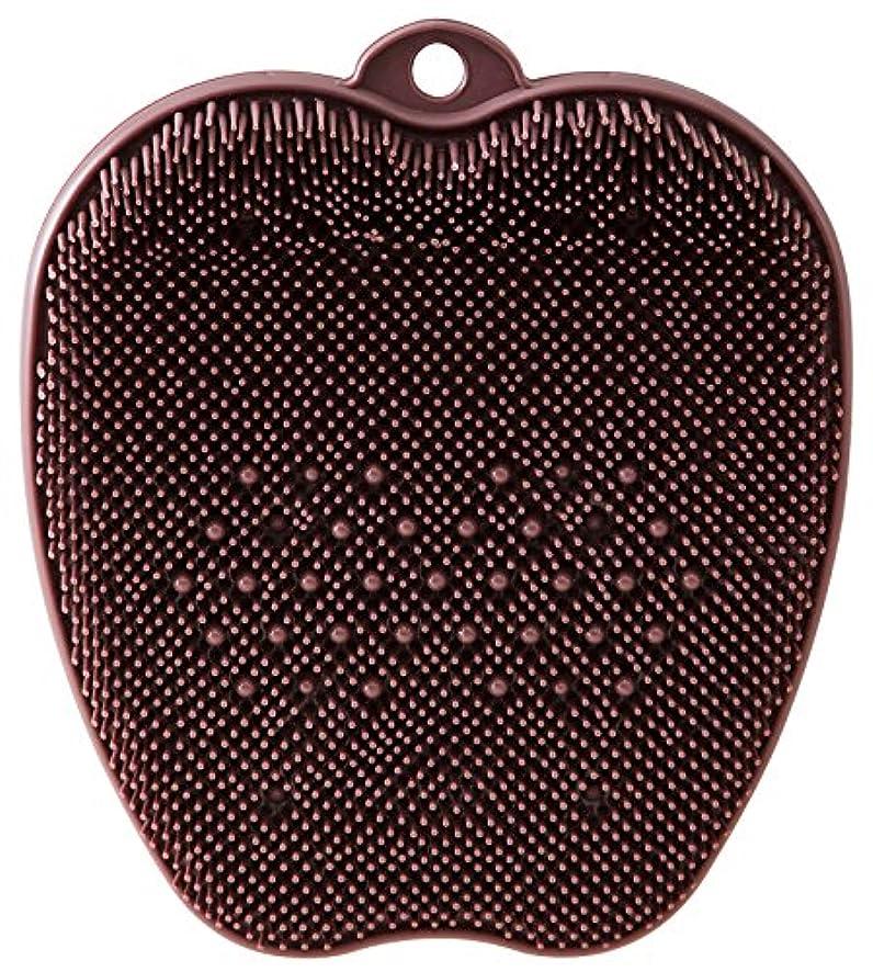 シロクマ肺体現するtone フットブラシ ブラウン TR-15
