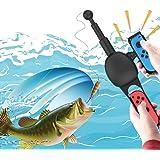 釣りスピリッツ専用Joy-Conアタッチメント Nintendo Switch Joy-con用釣り竿 釣りロッド 体感コントロールゲーム ジョイスティック ゲームパッドツール (釣りスピリッツ対応) ブラック