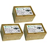【アレッポ】オリーブとローレルの石鹸(ノーマル)3個セット [並行輸入品]