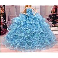 Youvinson バービー コレクター 人形用 花嫁のウェディングドレス ロングスカート 服 ドレス ドール用 人形 きせかえ バービー 服 ドレス ドール アクセサリー 人形着物 プリンセスドレス 飾り物 装飾