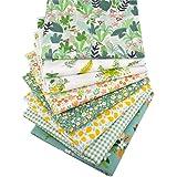 "Qimicody Fat Quarters Fabric Bundles, 8 Pcs 100% Cotton 20"" x 20"" (50cmx50cm) Precut Quilting Fabric Squares Sheets for DIY P"