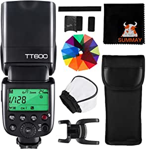 【Godox正規代理&日本語取説書】GODOX TT600 クリップオン ストロボ 2.4G ワイヤレス 1/8000s ハイスピードシンクロ ガイドナンバー60 フラッシュ スピードライト キヤノン ニコン 富士 ペンタックス オリンパスなどのデジタルカメラ対応 (TT600)