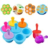 Popsicle Molds Maker Ice Pop Molds with Sticks for Kids Toddlers, Reusable Silicone Pop Molds Trays Ice Cream Juice Popsicle