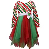 Bonnie Jean Girl's Holiday Christmas Dress for Baby Toddlers and Little Girls
