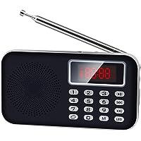 【Newiy Start】FMラジオ 充電式 AM FM ワイドFMも対応 ポケットラジオ 高感度 小型 LEDライト…