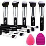 BEAKEY Makeup Brush Set Premium Synthetic Kabuki Foundation Face Powder Blush Eyeshadow Brushes Makeup Brush Kit with Blender