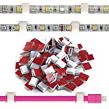 ATB FUTURE Self-Adhesive LED Strip Light Mounting Bracket Clip,LED Light Strip Clips, Cable Wire Organizer Clips For Vehicle,