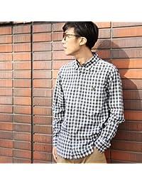 コーエン(メンズ)(coen) 50タイプライターチェックボタンダウンシャツ