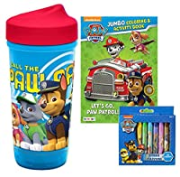 Nickelodeon Paw Patrol Inspired Toddlerific Sippy Cup with調節可能なフロー& Leak Proofバルブ。Plus Bonus Paw Patrolテーブルトップ幼児用アクティビティセット。